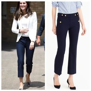 J. Crew RARE Wool Navy Sailor Pant Duchess Kate